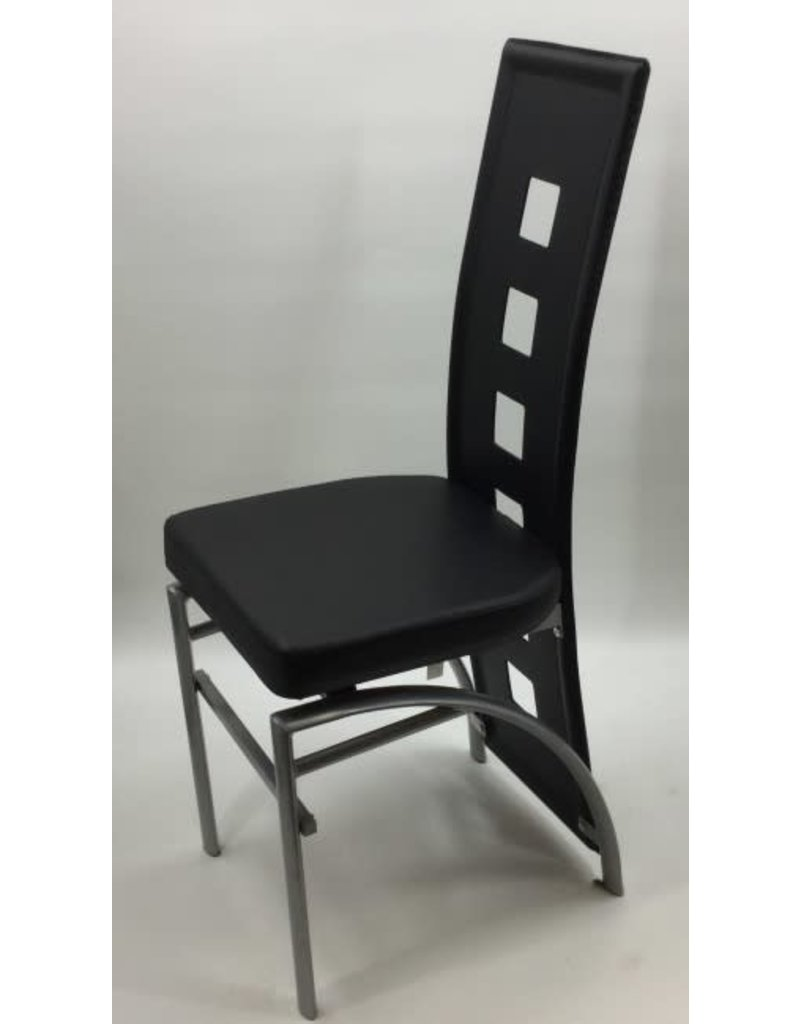 Groovy Black Faux Leather Chairs With Metal Legs Unemploymentrelief Wooden Chair Designs For Living Room Unemploymentrelieforg