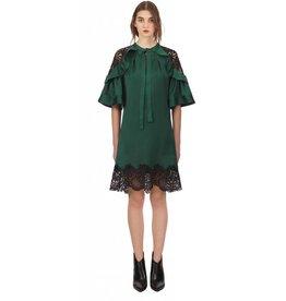Self-Portrait Lace Shoulder Mini Dress
