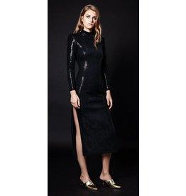 Smythe Side Slit Sequin Dress