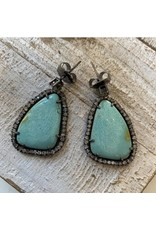 The Woods The Woods Turquoise with Diamond Earrings