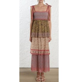 Zimmerman Juniper Tiered Tie Dress