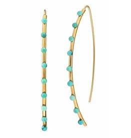 ASHA Emilia Turq Earrings