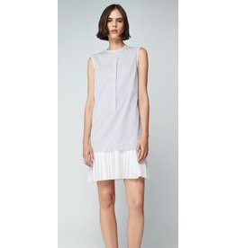 Victoria Beckham Pleat Hem Shirtdress