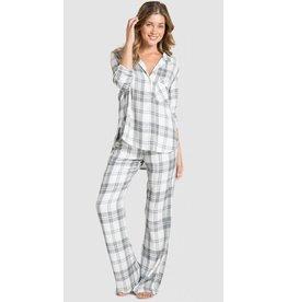 Bella Dahl Sleep Shirt with Wide Leg Set