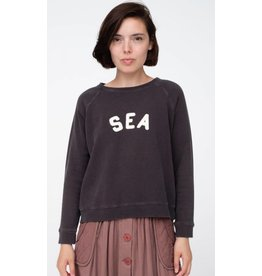 Sea Felt Letter Sweatshirt