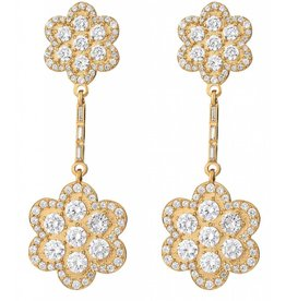 ASHA Delphine Floral Earring w/ Pave