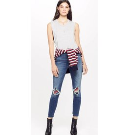 Mother Hight Waisted  Looker Ankle Fray