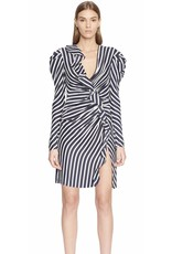 Jonathan Simkhai Jonathan Simkhai Stripe Ruffle Short Slit Dress