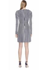 Jonathan Simkhai Jonathan Simkhai Stripe Ruffle Short Slit Dress