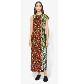 Proenza Schouler Multi Floral Asymmetrical Long Dress
