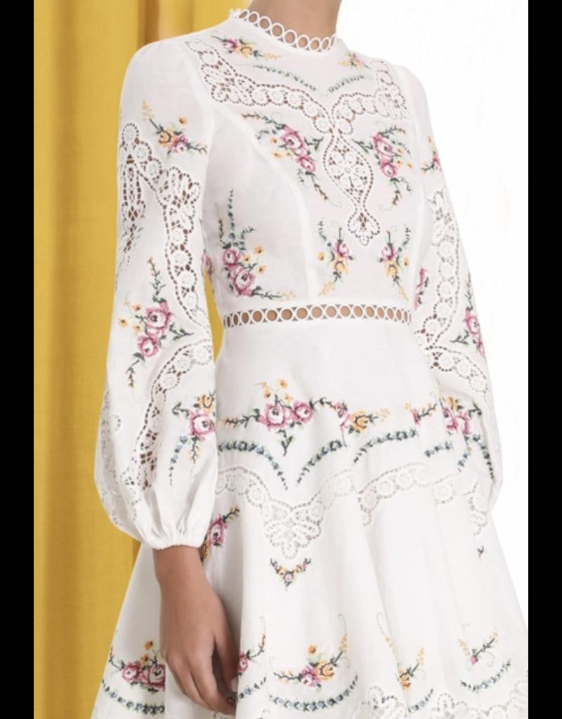 Zimmerman Zimmermann Allia Cross Stitch Short Dress