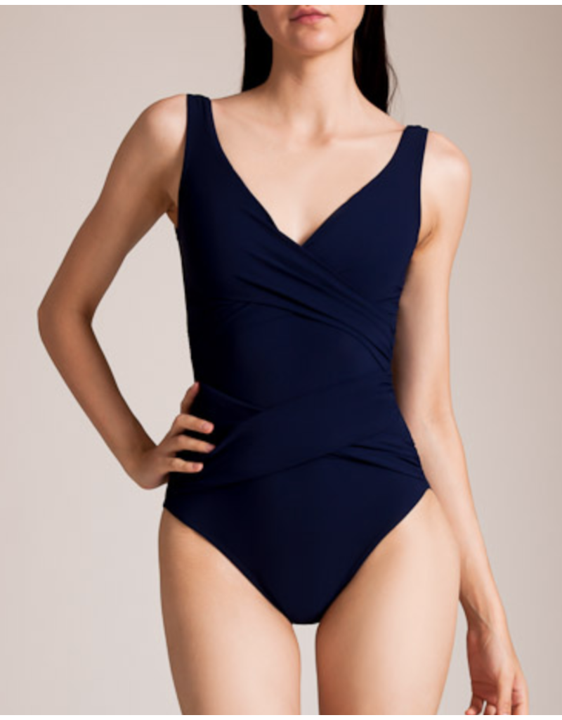 Karla Colletto Karla Colletto Smart Suit Surplice Neck Silent Underwire Tank with High Back