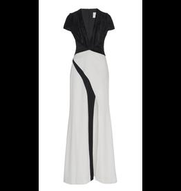 Galvan London Cap Sleeve Wrap Dress
