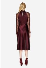 Jonathan Simkhai Jonathan Simkhai MIXED SILK LACE RUCHED FRONT KEYHOLE DRESS