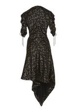 Jonathan Simkhai Jonathan Simkhai HAMMERED SILK RUCHED SLEEVE DRESS