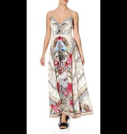 Camilla Long Dress w/ Tie Front
