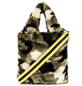 Pam & Gela Camo Faux Fur Bag