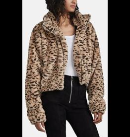SPRWMN Cropped Faux Fur Jacket