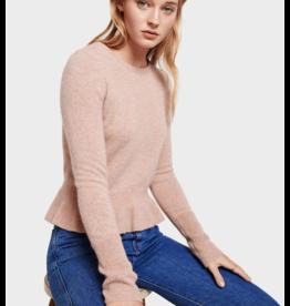 White + Warren Peplum Crewneck Sweater