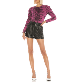 Pam & Gela Tiger Puff Slv Sweatshirt