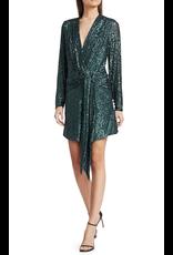 Jonathan Simkhai Jonathan Simkhai Sequin Emb Deep V Drape Front Mini Dress