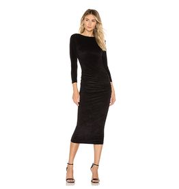 James Perse Low Back Velvet Dress