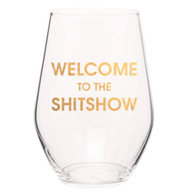 Chez Gagne Welcome To Wine Glass