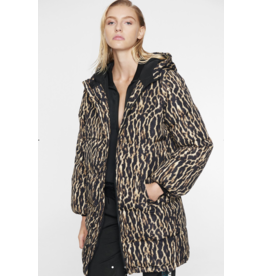 Pam & Gela H19 LEOPARD PUFFER HOODED COAT