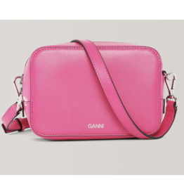 Ganni Textured Leather Crossbody