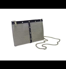 Whiting & Davis Nouveau Studs X-Body Bag