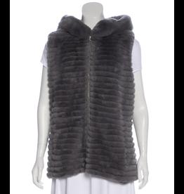 Glamourpuss Reversible Hooded Rex Cord Vest