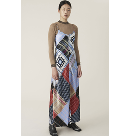 Ganni Silk Patterned Dress