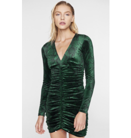 Pam & Gela H19 SNAKE DRESS W/ SASH TIE
