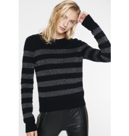 Pam & Gela H19 LUREX STRIPE CREW NECK SWEATER