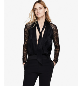 Jonathan Simkhai SILK LACE WRAP TOP