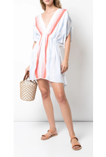 Lemlem LemLem Biftu Short Plunge Neck Dress