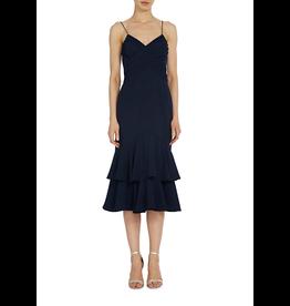 Monique Lhuillier Tiered Cocktail Dress