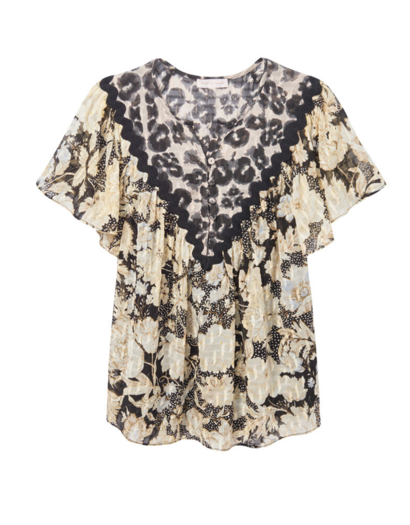 Rebecca Taylor Rebecca Taylor Sleeveless Gold Leaf Top
