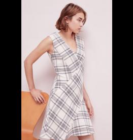 Rebecca Taylor Sleeveless Plaid Tweed Dress