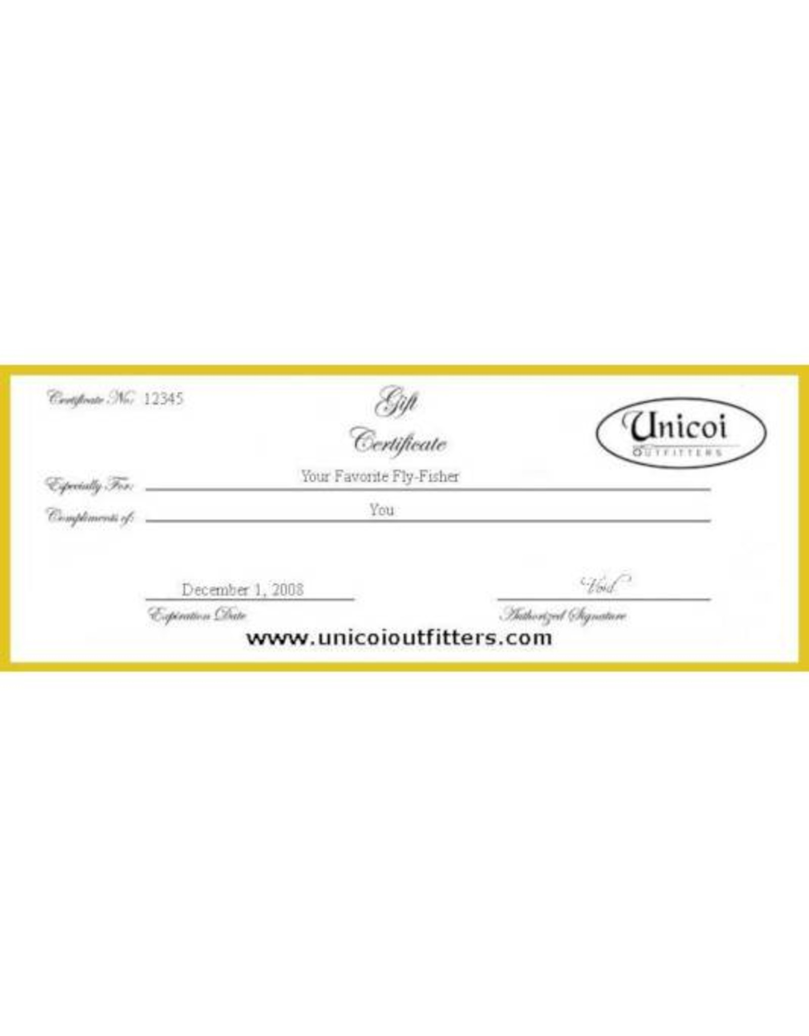 Unicoi Outfitters Gift Certificate - Fly Fishing Class