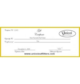 Unicoi Outfitters Gift Certificate - Merchandise
