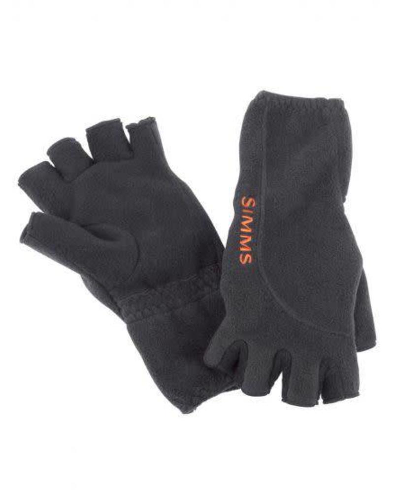 Simms Simms Headwaters Fleece Half Finger Glove - Black