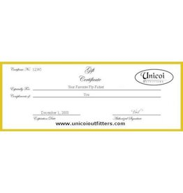 Unicoi Outfitters Gift Certificate -  Unguided Nacoochee Bend Trophy Trout Fishing