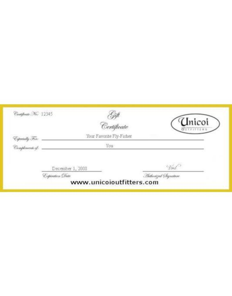 Unicoi Outfitters Gift Certificate - Public Water Wade