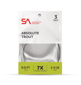 Scientific Anglers Scientific Anglers Absolute Trout Leaders 3-Pack