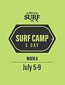 5 Day Camp: (Week 5) July 5-9, 2021