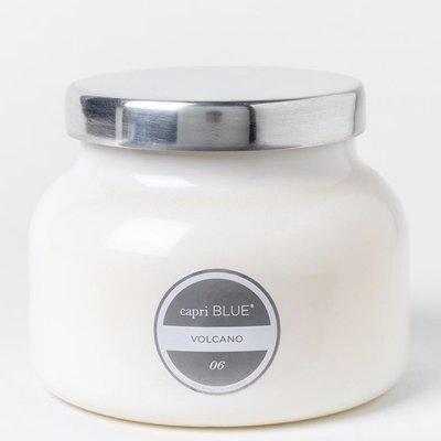 Capri Blue Volcano Candle White Signature Jar