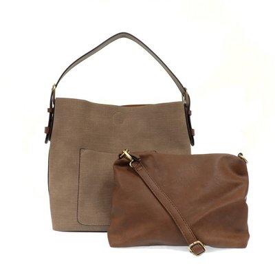 Joy Susan Faux Linen Hobo Handbag