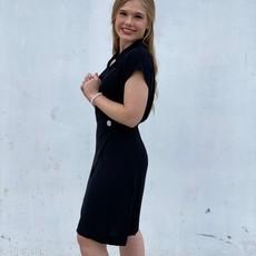 Molly Bracken Wrap Button Dress Black