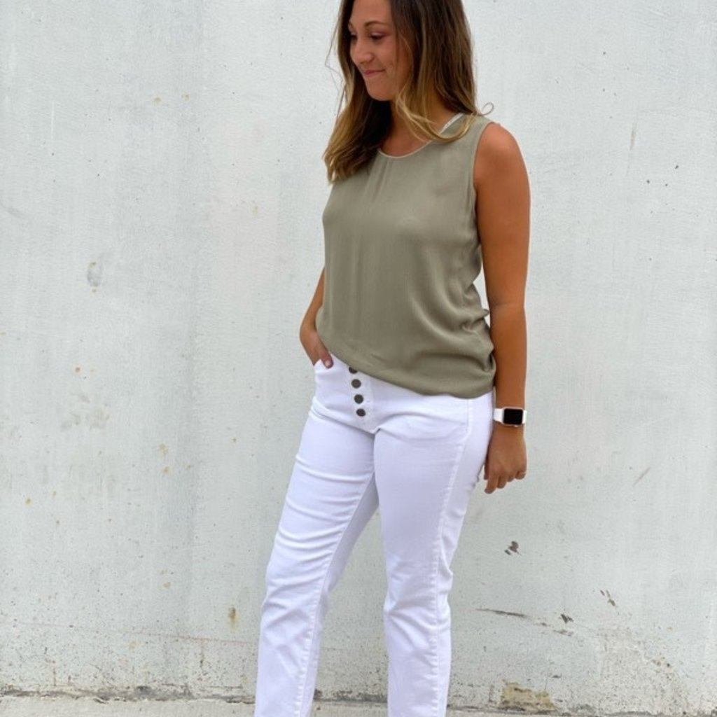 Molly Bracken Sleeveless Top Khaki